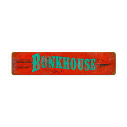 Bunkhouse Vintage Metal Sign