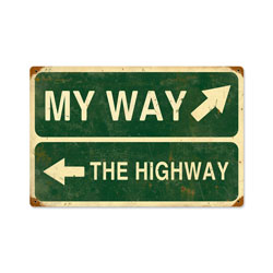 My Way Highway Vintage Metal Sign