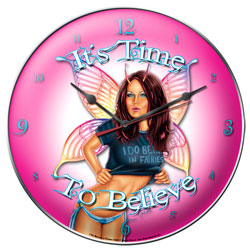 Believe in Fairies Vintage Metal Sign Clock