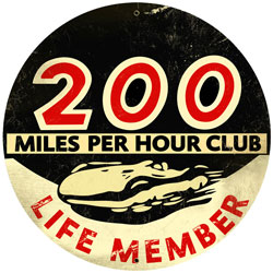 200 Miles Per Hour Vintage Metal Sign