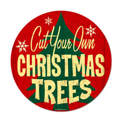 Christmas Trees Vintage Metal Sign