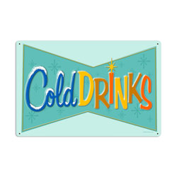 Cold Drinks Vintage Metal Sign