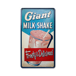 Milk Shake Vintage Metal Sign