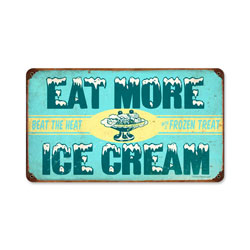 Ice Cream Vintage Metal Sign