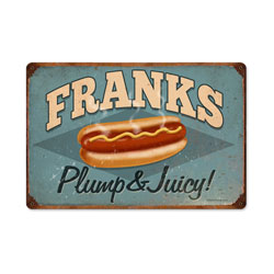Franks Vintage Metal Sign