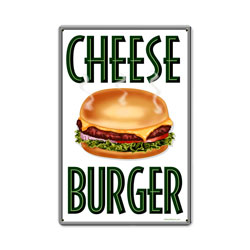 Cheese Burger Vintage Metal Sign