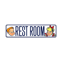 Restroom Vintage Metal Sign