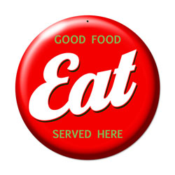 Eat Vintage Metal Sign