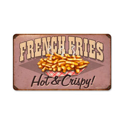 French Fries Vintage Metal Sign