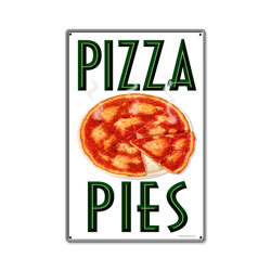 Hot Pizza Vintage Metal Sign