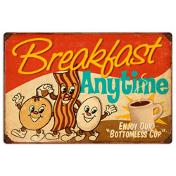 Breakfast Vintage Metal Sign