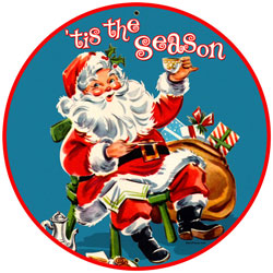 Tis The Season Vintage Metal Sign