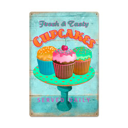 Cupcake Fresh Vintage Metal Sign