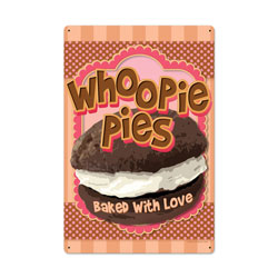 Whoopie Pies Vintage Metal Sign