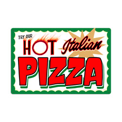 Hot Italian Pizza Vintage Metal Sign