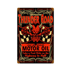Thunderroad Vintage Metal Sign