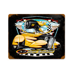 Bee Gee Roadster Vintage Metal Sign