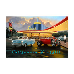 California Graffiti Vintage Metal Sign