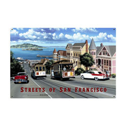 San Francisco Streets Vintage Metal Sign