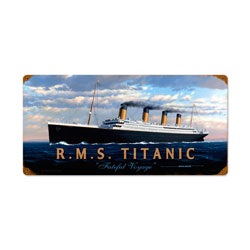 RMS Titanic Vintage Metal Sign