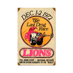 Lions Last Drag Vintage Metal Sign