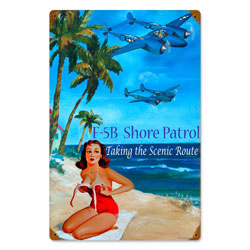 Shore Patrol Vintage Metal Sign