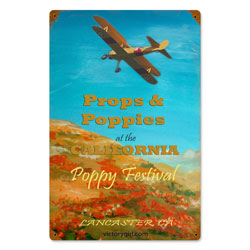 Poppy Festival Vintage Metal Sign