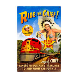 Super Chief Vintage Metal Sign