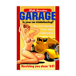 Full Service Garage Vintage Metal Sign