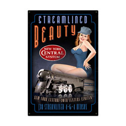 Streamlined Beauty Vintage Metal Sign