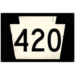 Route 420 Vintage Metal Sign