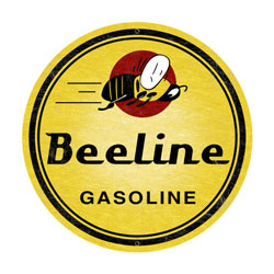 Bee Line Gasoline Vintage Metal Sign