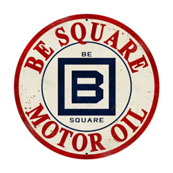 B Square Gasoline Vintage Metal Sign