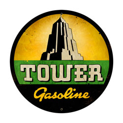 Tower Gasoline Vintage Metal Sign