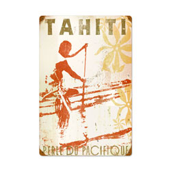 Tahiti Vintage Metal Sign