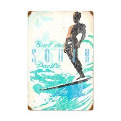 South Pacific Vintage Metal Sign