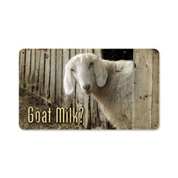 Goat Milk Vintage Metal Sign
