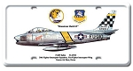 F-86F Sabre Vintage Metal Sign