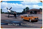 Vintage Mustangs Vintage Metal Sign