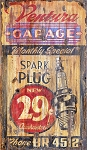 Personalized Ventura Garage Spark Plug Antiqued Wood Sign