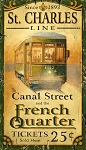 Personalized Street Car St Charles Line French Quarter Antiqued Wood Sign