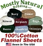 California Queen Size Flannel Extra Deep Pocket Sheet Set