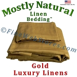 48 Inch Size Gold Bed Linen Sheet Set 300 Thread Count