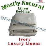 48 Inch Size Ivory Bed Linen Sheet Set 300 Thread Count