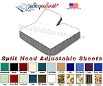 Eastern King Split Head Adjustable Sheets 50/50