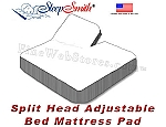 Eastern King Waterproof Mattress Pad For Split Head Adjustable Bed