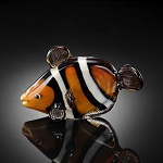 Clown Fish Art Glass