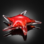 Red Starfish Art Glass