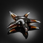 Dark Starfish Art Glass