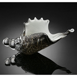 Brown Conch Shell Art Glass